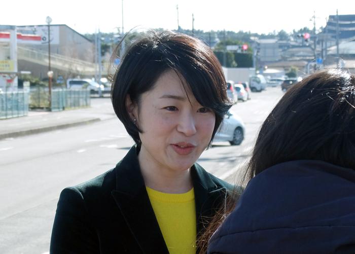 2015年末街頭平山佐知子さん②
