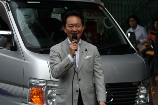 14.8.30JR熱海駅前街頭政談会③
