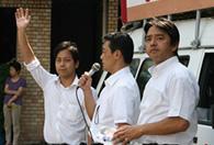 参議院議員・榛葉賀津也さんと市内で街頭演説