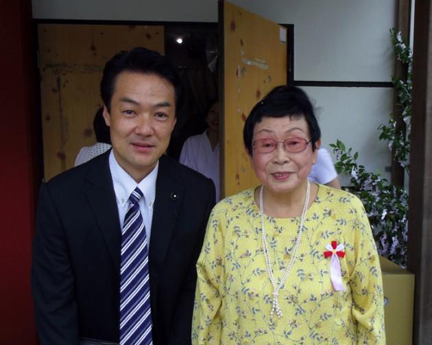 13.7.15来宮神社例大祭橋田壽賀子先生と