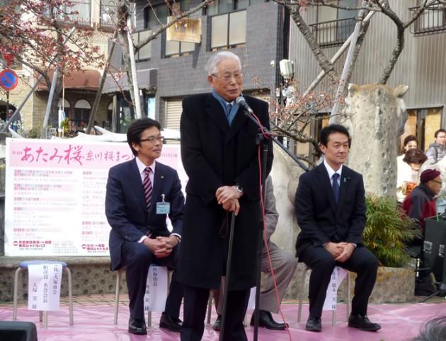 14.1.25第4回糸川桜まつり大塚会長①