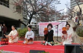 14.1.25第4回糸川桜まつり芸妓衆①