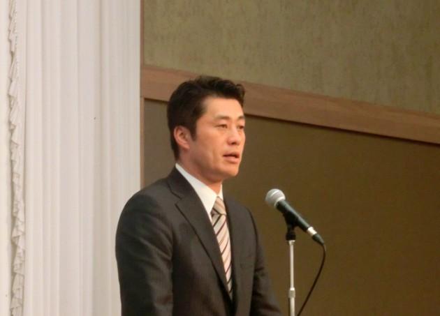14.3.8民主党静岡県連第17回定期大会細野新会長
