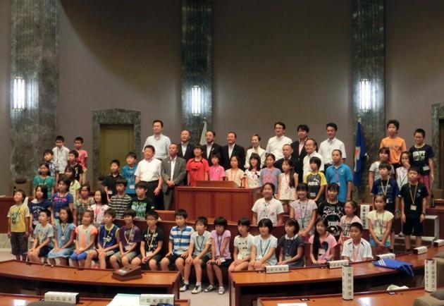 14.8.5ふれあい親子県議会教室⑧
