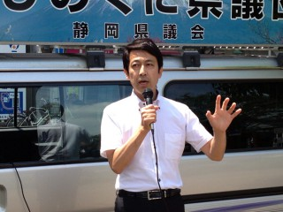 14.7.28ふじのくに県議団街頭キャラバン③
